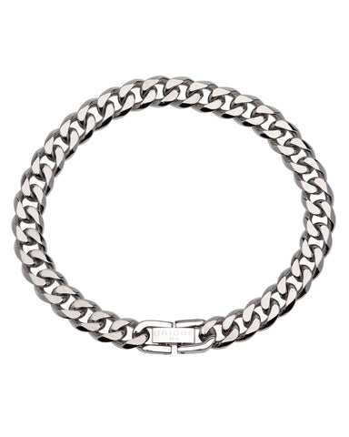 Unique Mens Stainless Steel Curb Bracelet