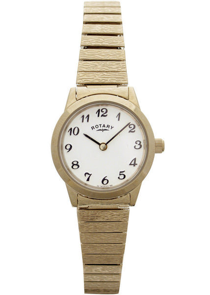 Rotary Ladies Gold-plated Expander Case Watch