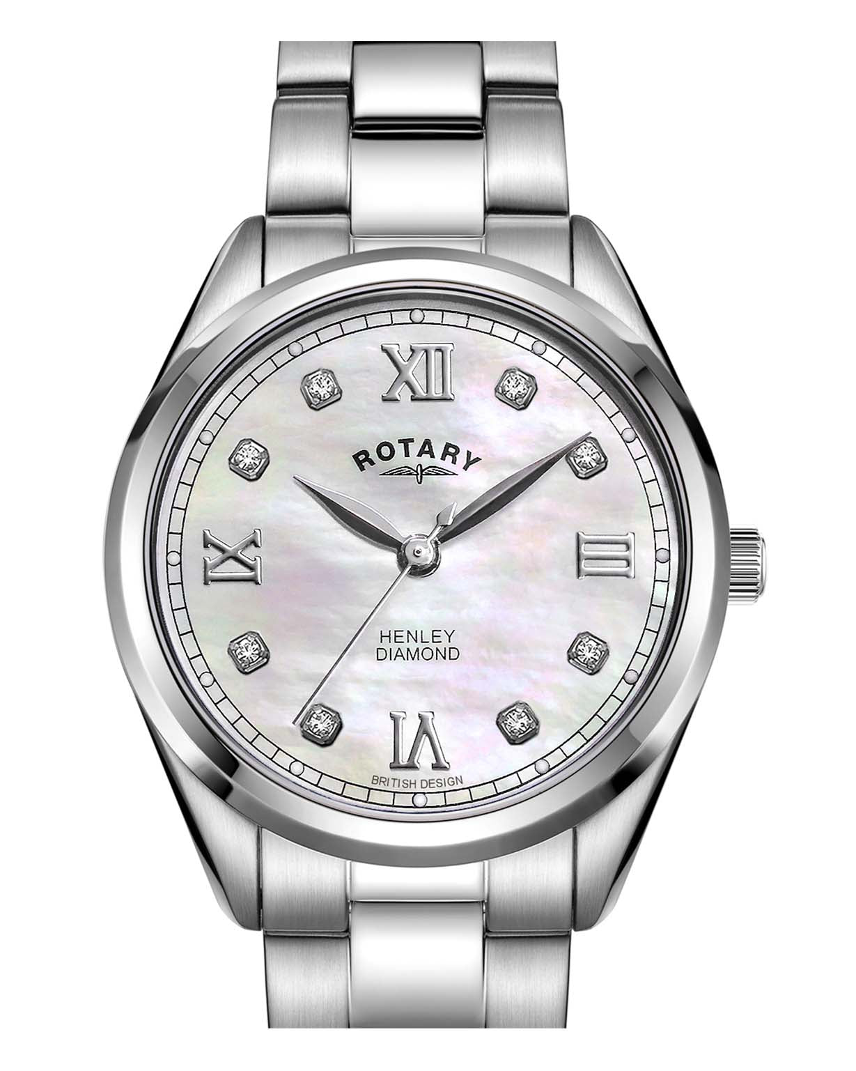 Rotary Ladies Henley Stainless Steel Diamond Watch