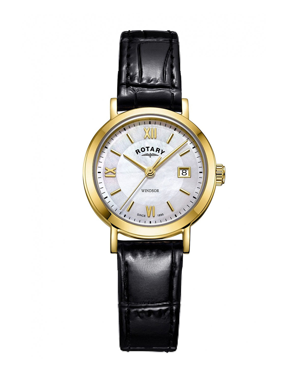 Rotary Ladies Windsor Gold Plated Leather Watch