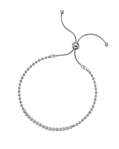 Sterling Silver Adjustable CZ Tennis Bracelet