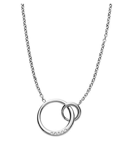 Skagen Elin Interlocking Circles Stainless Steel Necklace