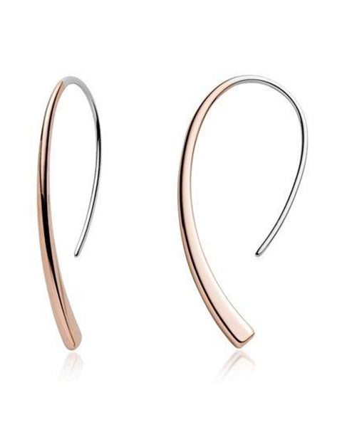Skagen Elin Two-Tone Steel Threader Drop Earrings