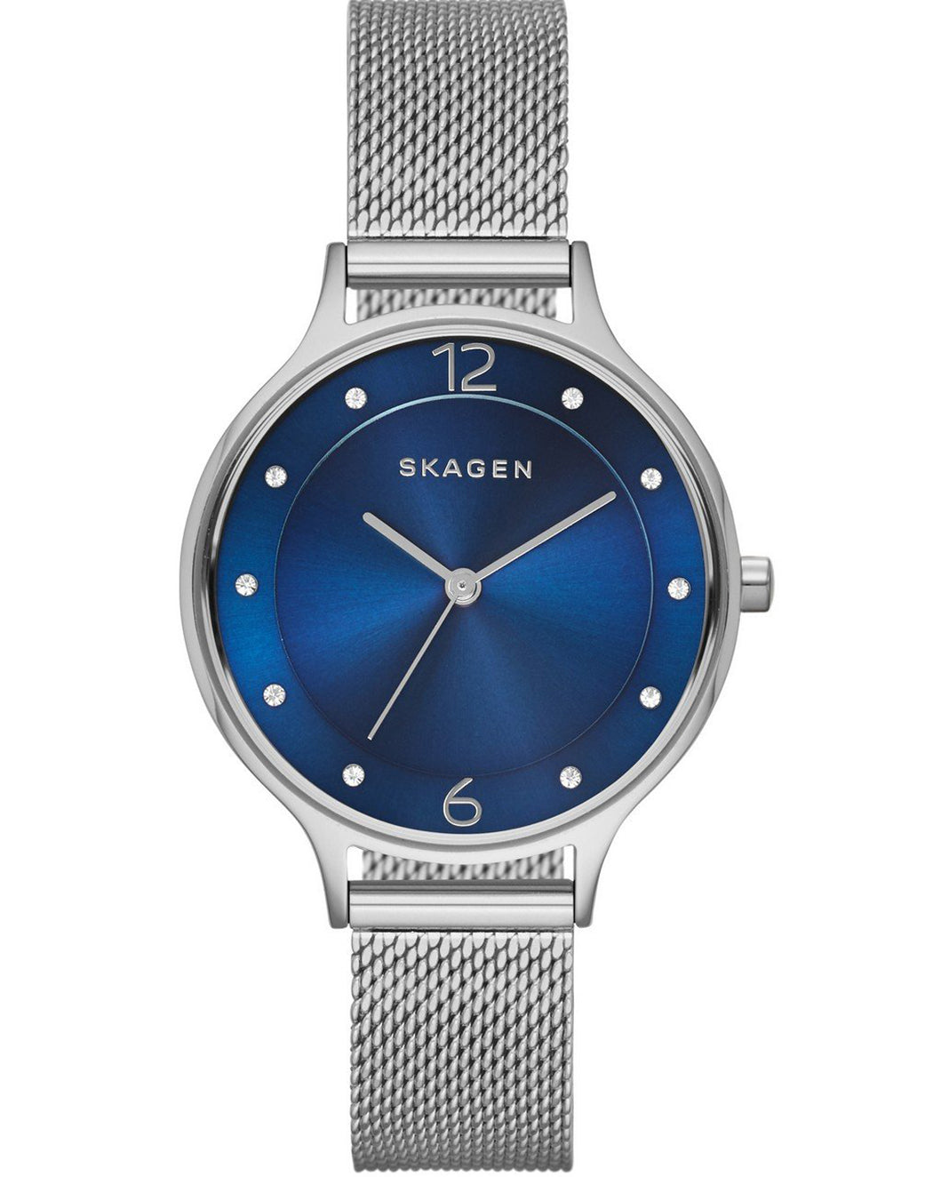 Skagen Blue Anita Stainless Steel Ladies Watch