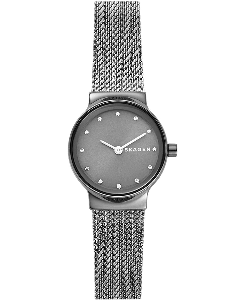 Skagen Freja Dark Grey Stainless Steel Ladies Watch