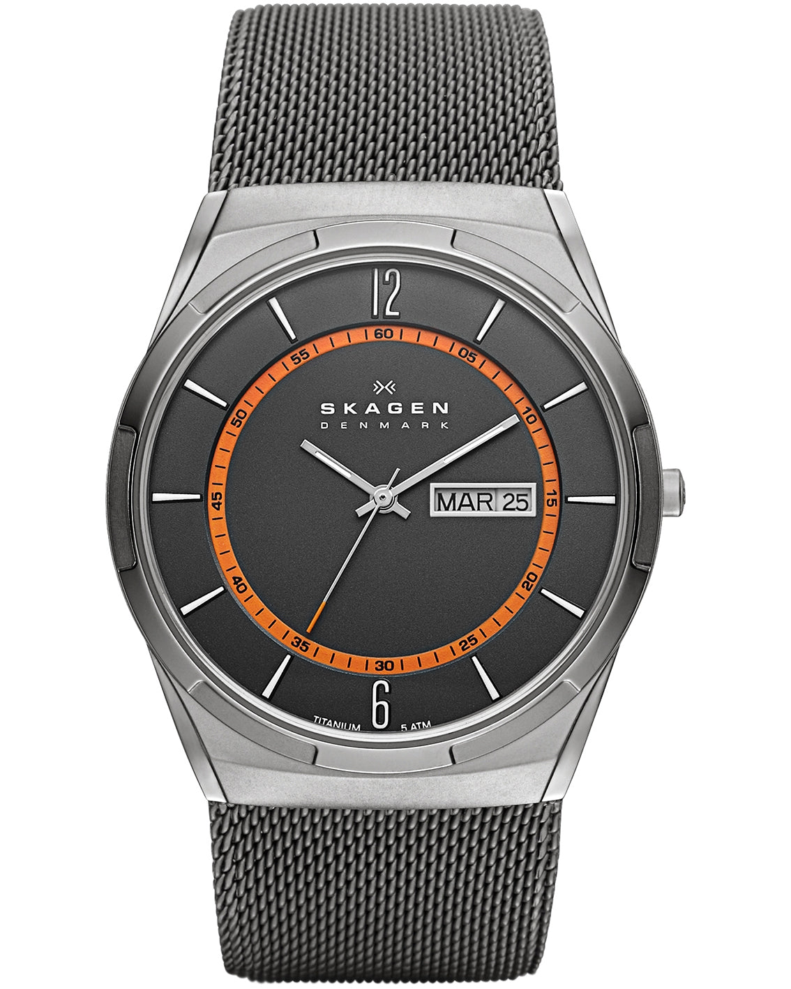 Skagen Melbye Titanium & Grey Steel Gents Watch