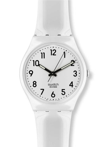 Swatch Just White Unisex Watch
