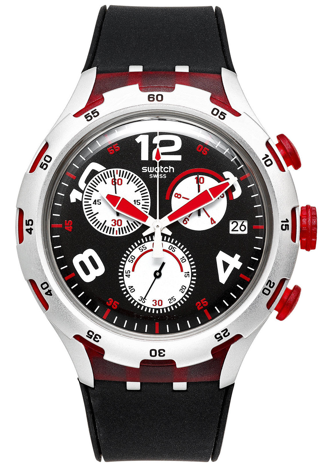Swatch Red Wheel Chronograph Men's Watch