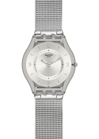 Swatch Metal Knit Ladies Watch SFM118M