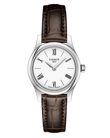 Tissot Tradition 5.5 Ladies Leather Strap Watch