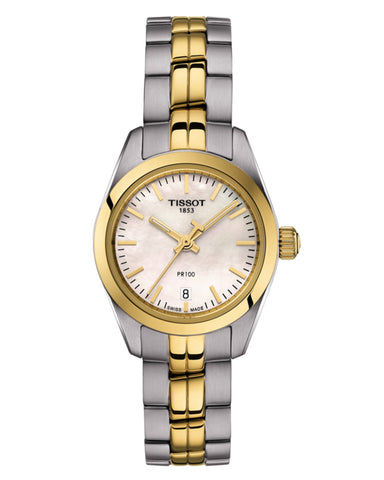 Tissot PR 100 Small Ladies Two-Tone Watch