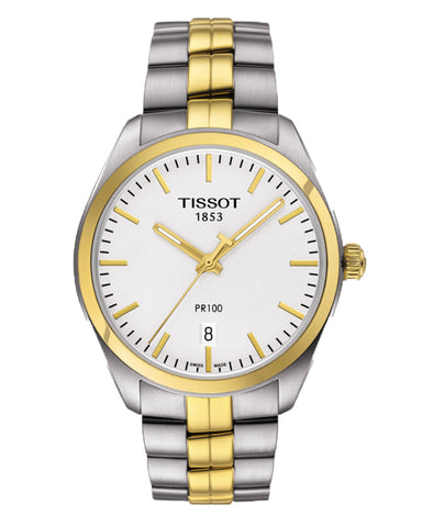 Tissot PR 100 Gents Two-Tone Watch