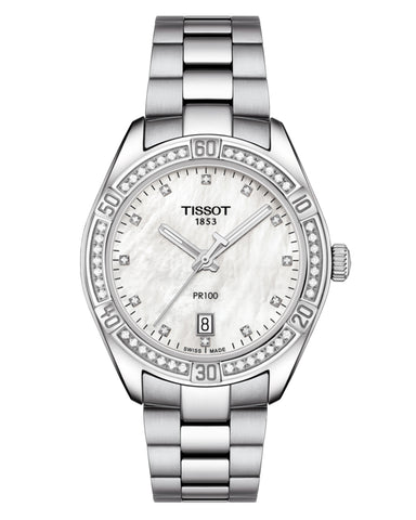 Tissot PR 100 Sport Chic Ladies Diamond Watch