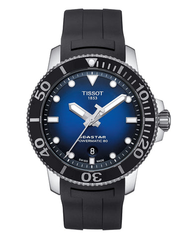 Tissot Seastar 1000 Powermatic 80 Gents Rubber Strap Watch