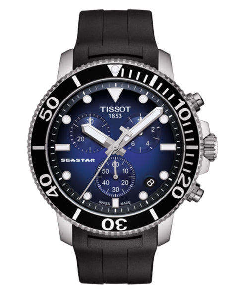 Tissot Seastar 1000 Chronograph Gents Rubber Strap Watch