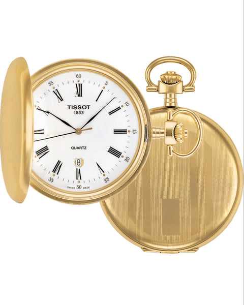 Tissot Savonnette Gold Tone Pocket Watch