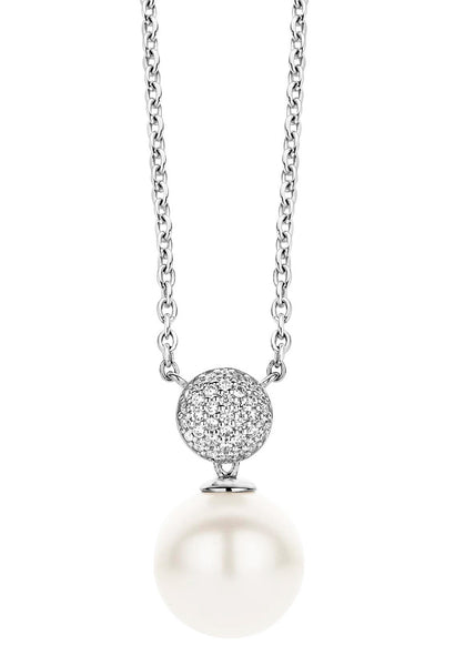 Ti Sento Necklace with Pearl Pendant