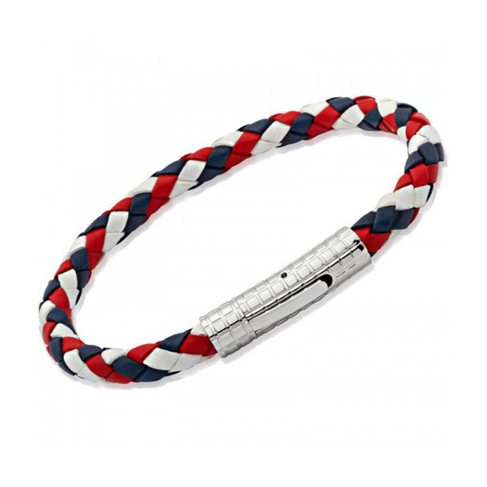 GBR Leather Bracelet With Stainless Steel Clasp - B70GBR
