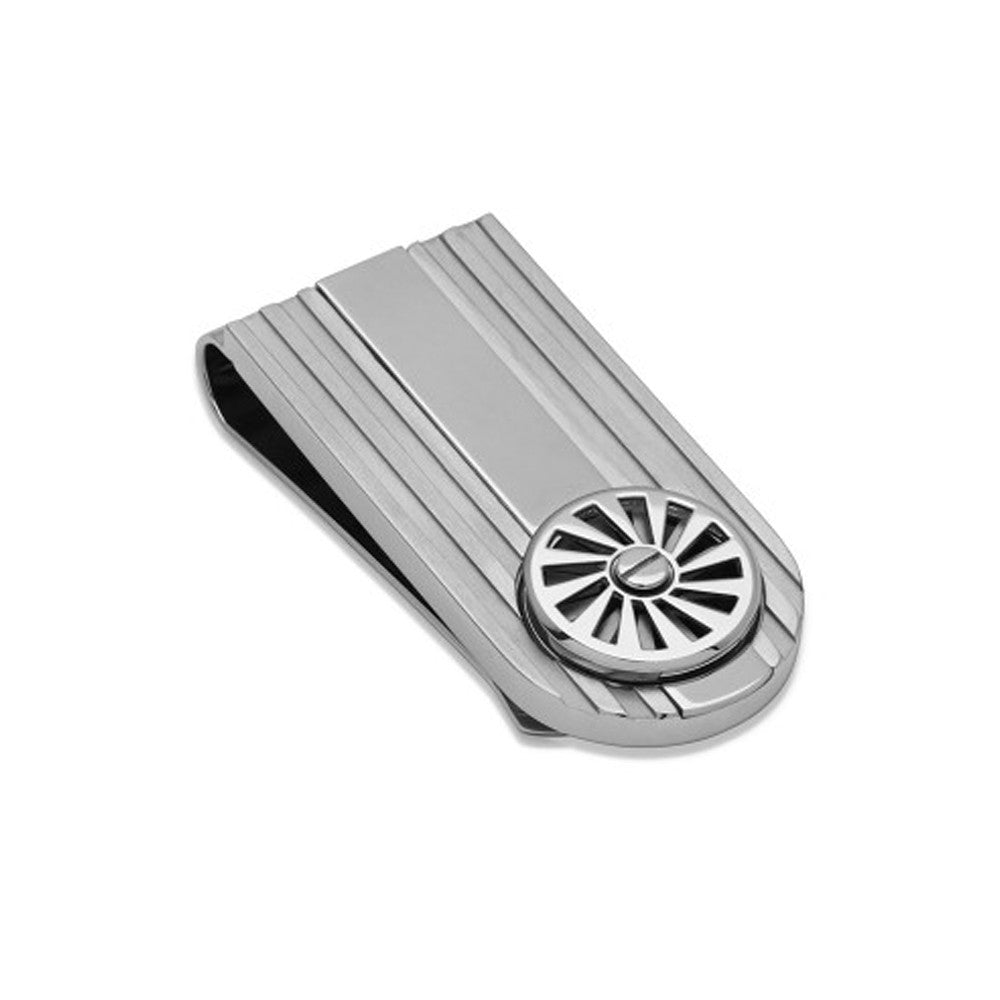 Unique Mens Steel Money Clip Spinning Car Wheel - KH-11