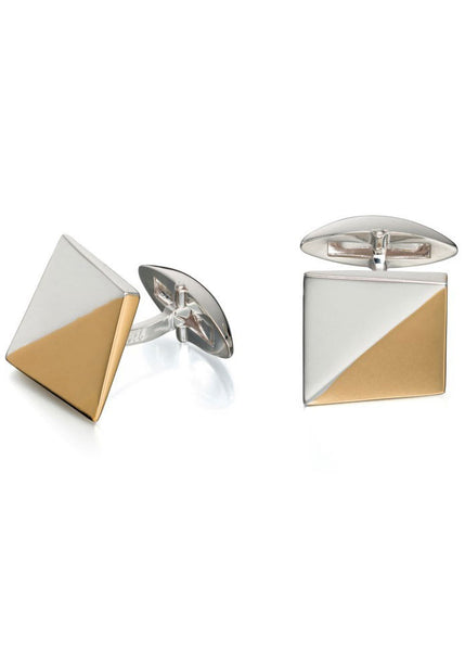 Fed Bennett cufflinks two tone square - v501