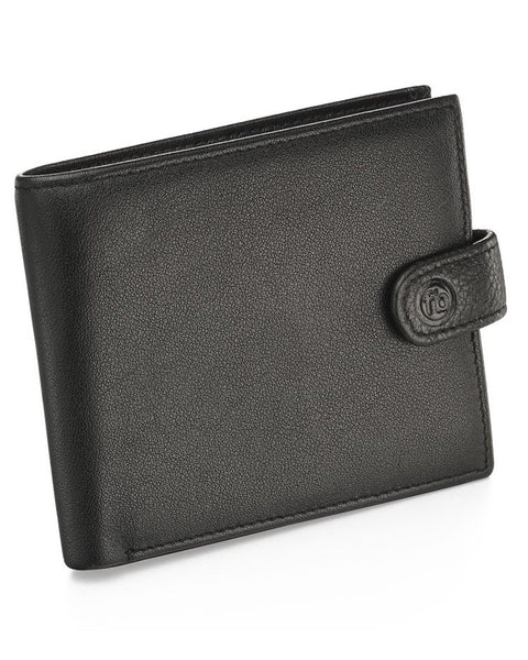 Fred Bennett Black Leather Wallet with Coin Pouch