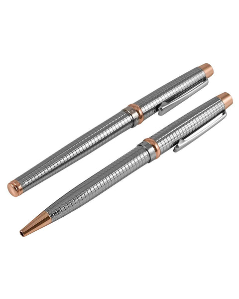 Jos Von Arx Silver & Rose Gold Pen Set
