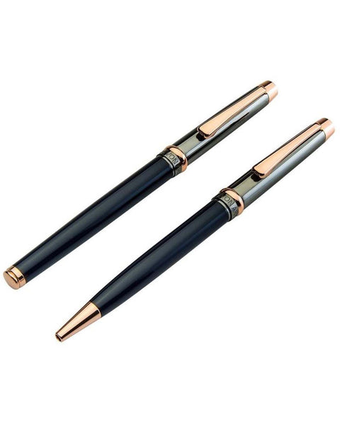 Jos Von Arx Navy & Rose Gold Pen Set