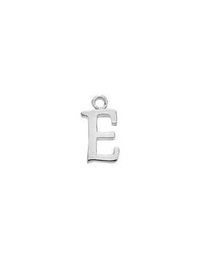 "Solid Silver Initial Pendants with 16"" Chain"