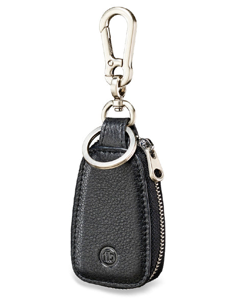 FRED BENNETT BLACK LEATHER KEY FOB - Y2622