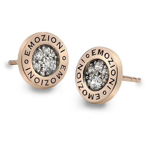 Emozioni Pianeta Rose Gold Plated Earrings