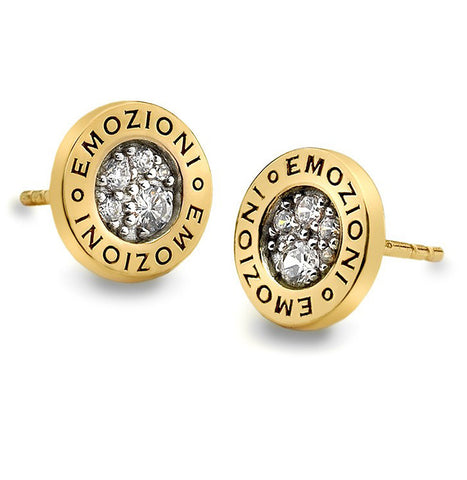 Emozioni Pianeta Yellow Gold Plated Earrings