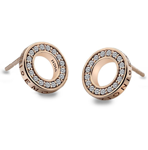 Emozioni Saturno Rose Gold Plated Earrings
