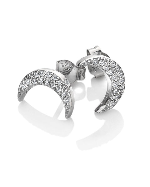 Hot Diamonds Bliss Crescent Silver & White Topaz Earrings