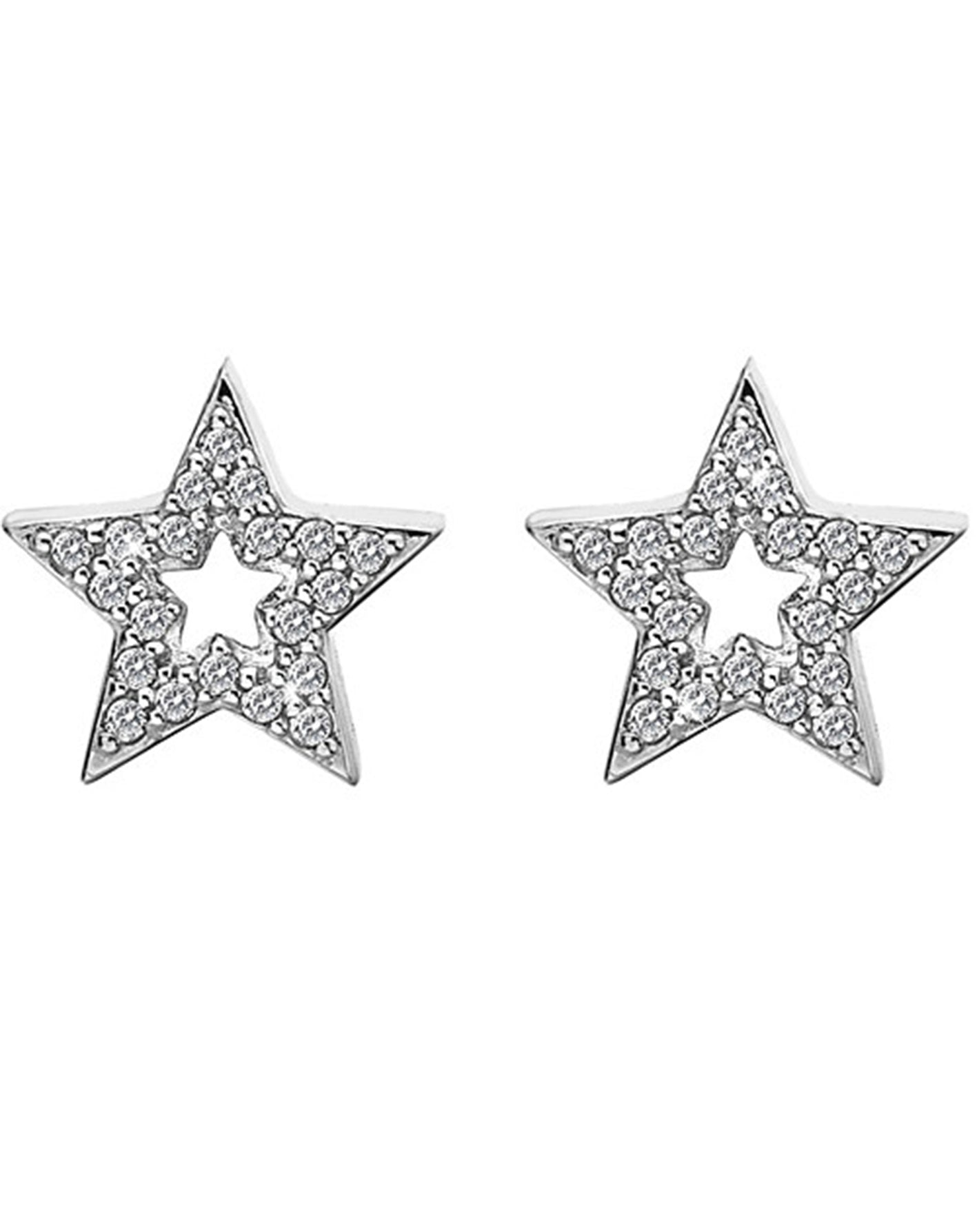 Hot Diamonds Bliss Star Silver & White Topaz Earrings