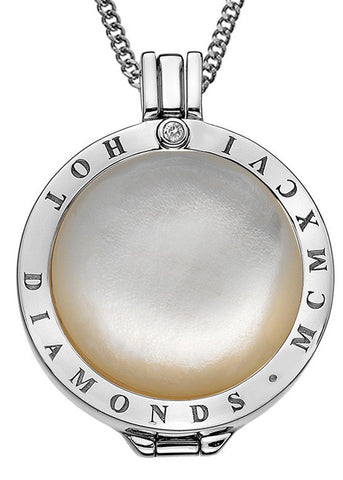 Emozioni White Mother of Pearl & Silver 33mm Coin