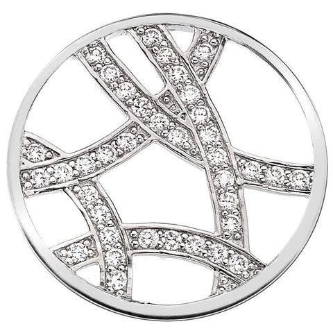Emozioni Ice Sparkle Arc Silver 33mm Coin