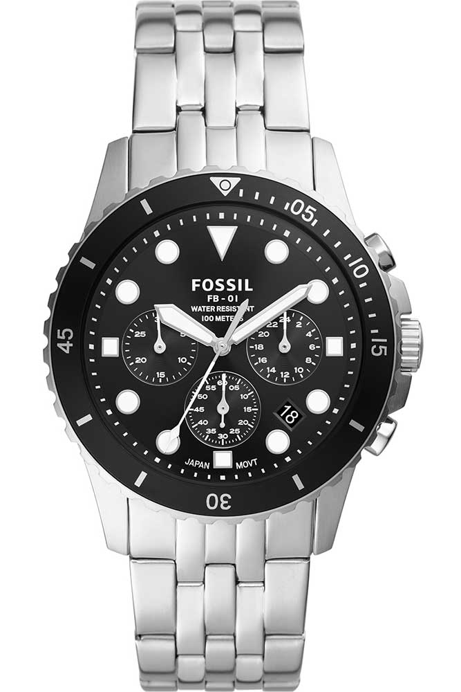 Fossil FB-01 Chronograph Stainless Steel Watch  FS5837