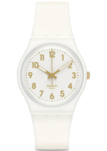 Swatch White Bishop Unisex Watch