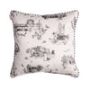 HARROGATE TOILE CUSHION-CHARCOAL