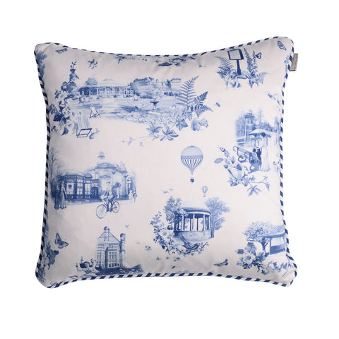 HARROGATE TOILE CUSHION-BLUE