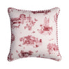 HARROGATE TOILE CUSHION-RED