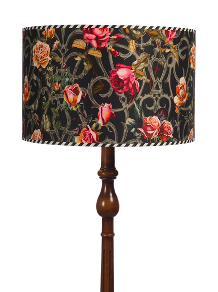 ROSE TRELLIS DRUM SHADE