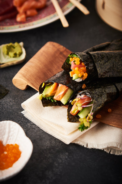 How to Make Temaki Sushi Hand Rolls