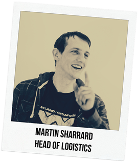 Martin Sharrard, Head of Logistics