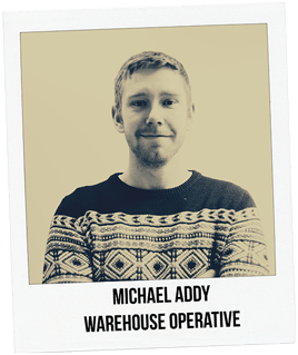 Michael Addy, Warehouse Operative