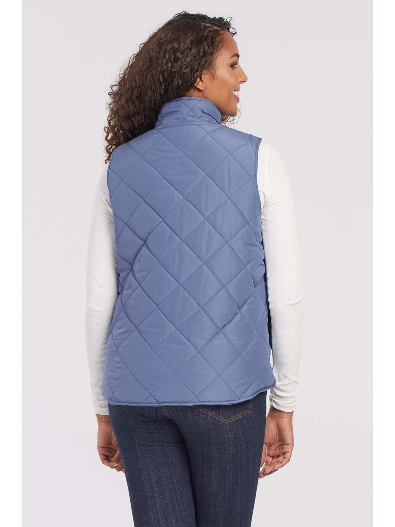Reversible Vest With Sherpa Lining China Blue