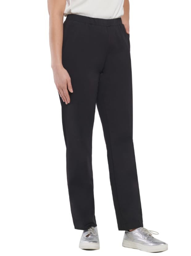 Pull-On San Remo Straight Leg Pant Black
