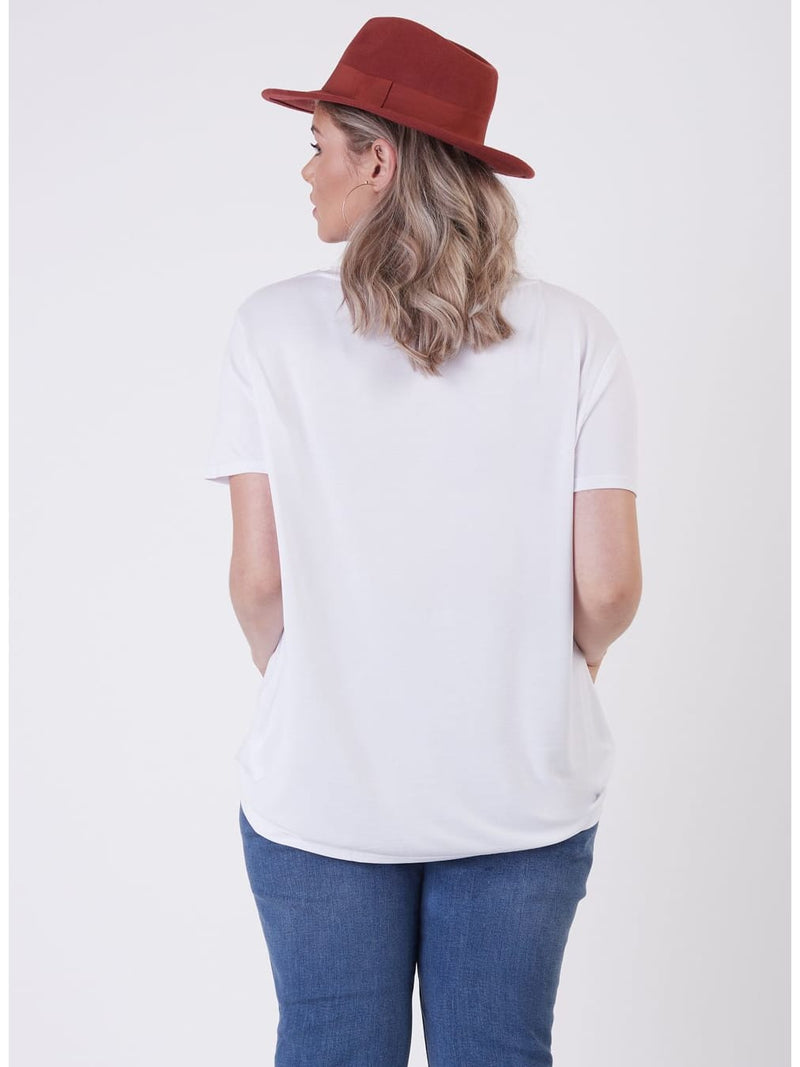 Basic Short Sleeve V-Neck T-shirt