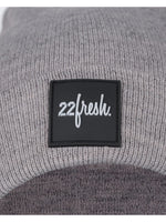 22Fresh Square Beanie Grey