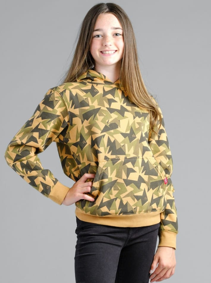 Lil' Jagged Camo Hoodie Gold Medal